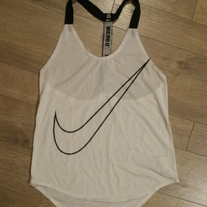 Nike Dri Fit White Racerback Tank Top